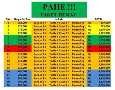 Harga PAHE BALI - Daftar Harga Murah Untuk Watersport