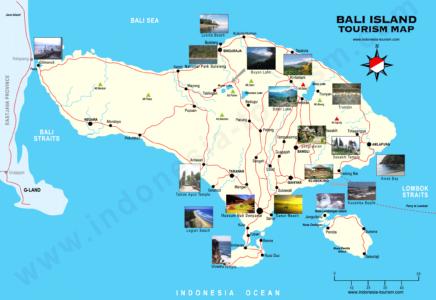 Map Wisata di bali - Peta Tempat Wisata di Bali