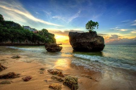 Padang padang Bali sunset