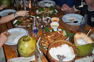 Hidangan makanan Seafood Paket Jimbaran cafe Bali