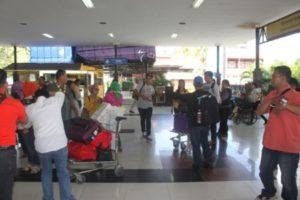 Kedatangan di airport Bali
