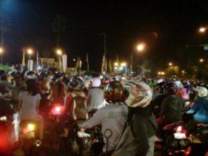 Macetnya Tahun Baru di Bali