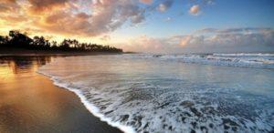Surfing Berawa beach Bali