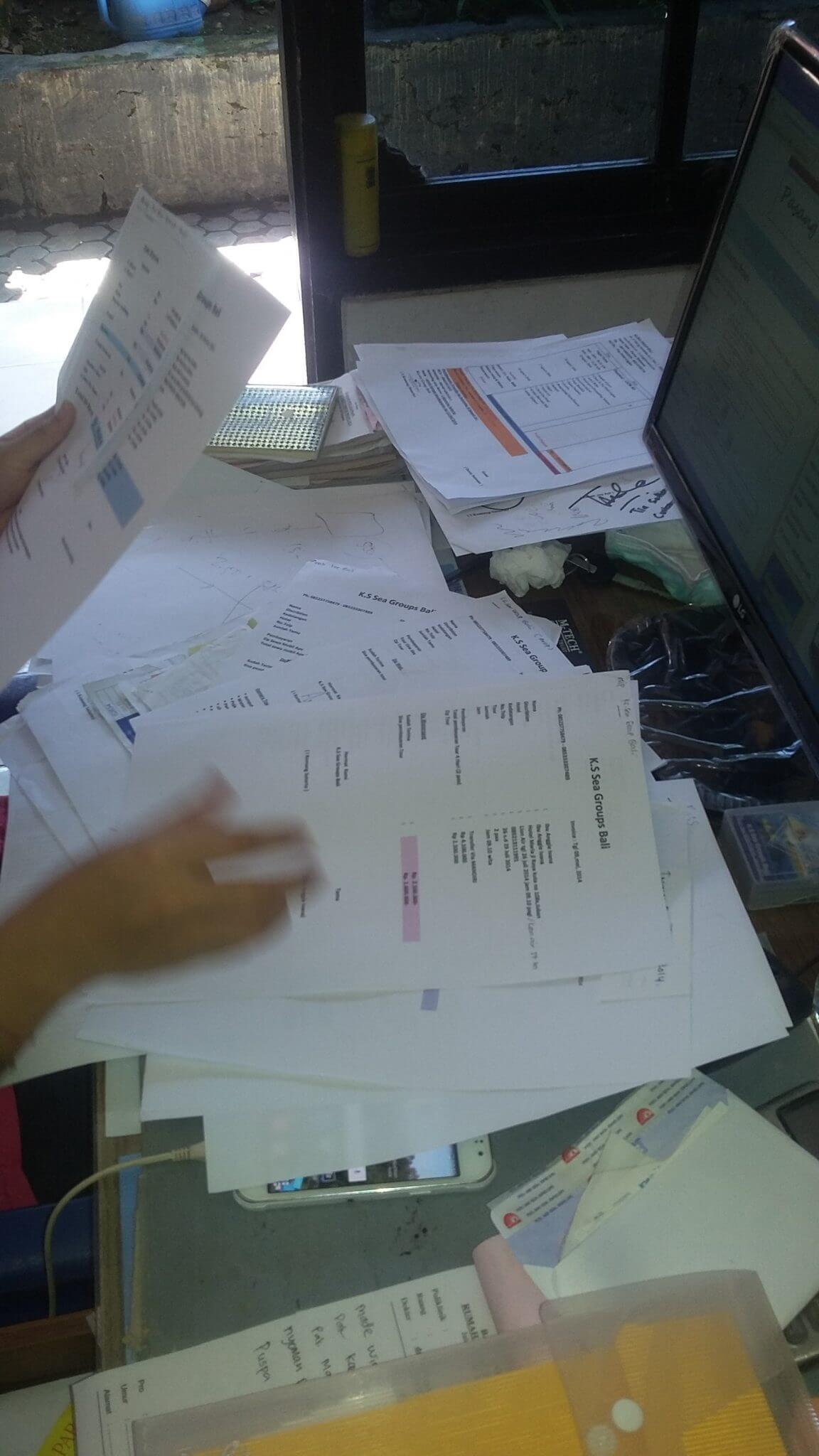 Kss Bali tour invoice terorganise