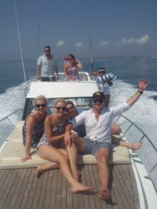 Front deck semi yacht
