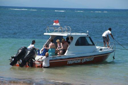 Tropical adventure fishing boat