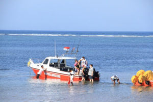 Tropical express fishing boat Bali