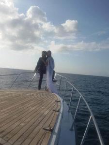 Wedding picture baliyachtboat