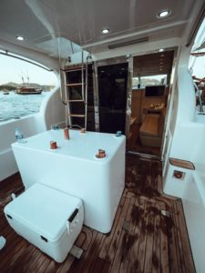 Back yacht view