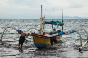 Perahu jukung Bali Mancing