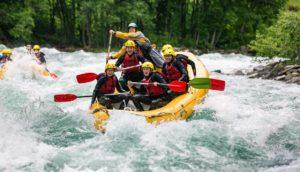 Rafting white river Bali