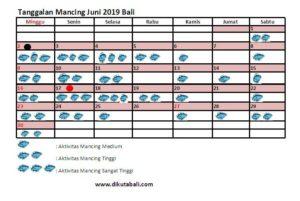 Tanggalan Mancing Bulan Juni 2019