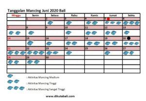 Tanggalan Mancing Bulan Juni 2020 Mancing Laut