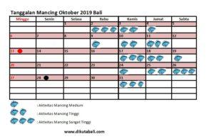 Tanggalan mancing oktober 2019