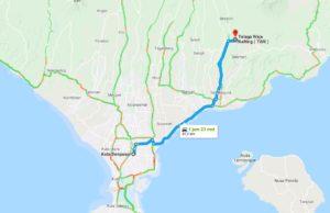 Telaga waja Bali Map