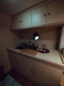 mini kitchen in yacht