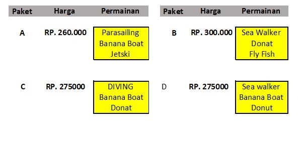 Paket List Price Harga watersport murah