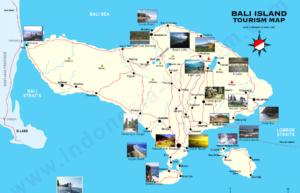 peta wisata lengkap Bali